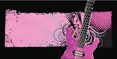 Grunge background with guitar.