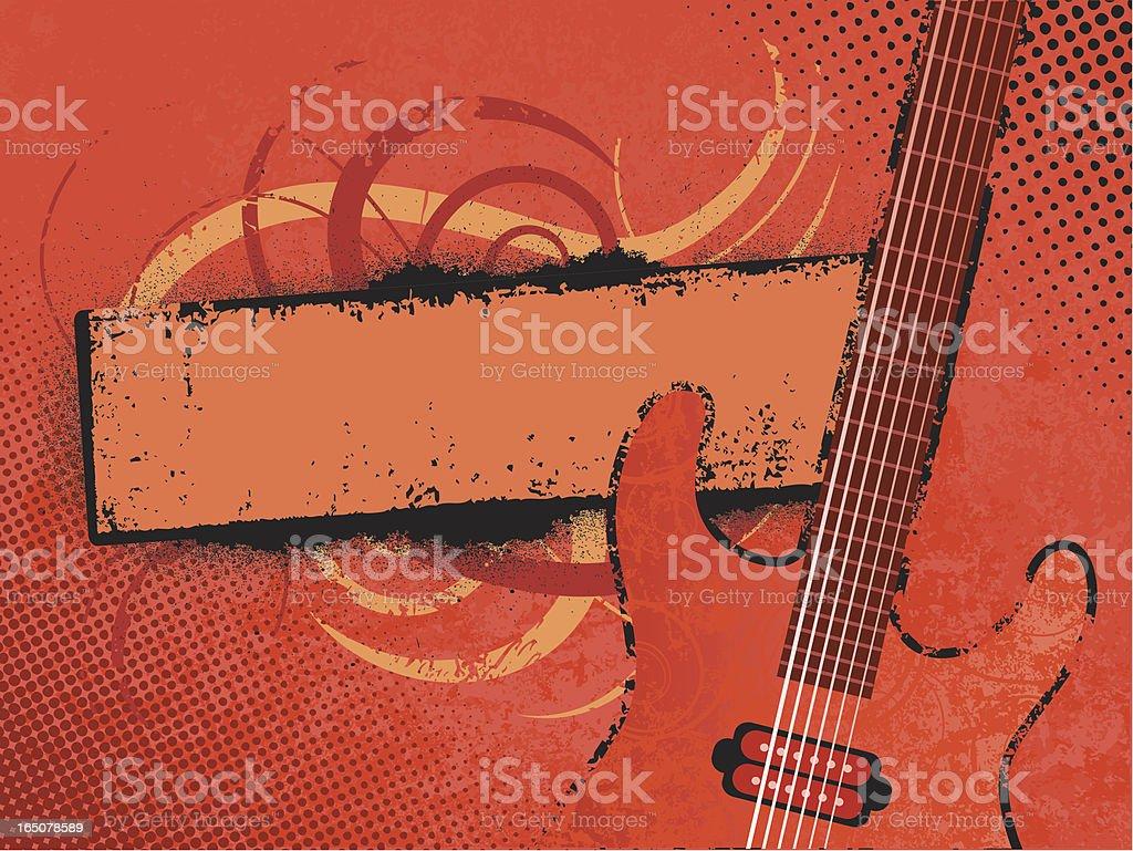 Grunge music banner vector art illustration