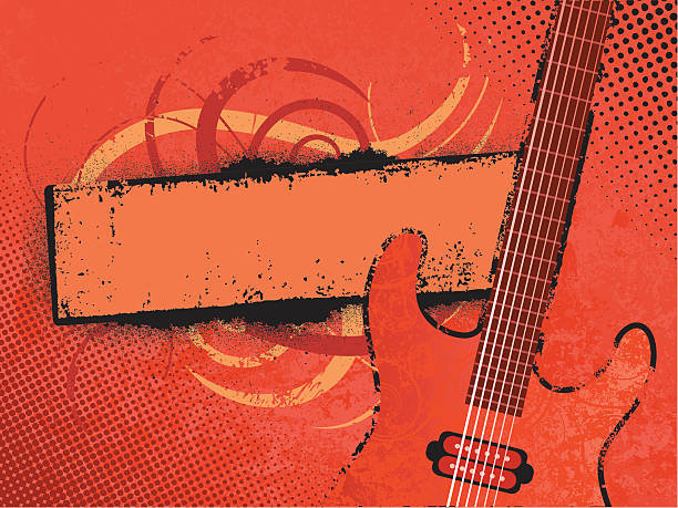 Grunge Musik banner – Vektorgrafik