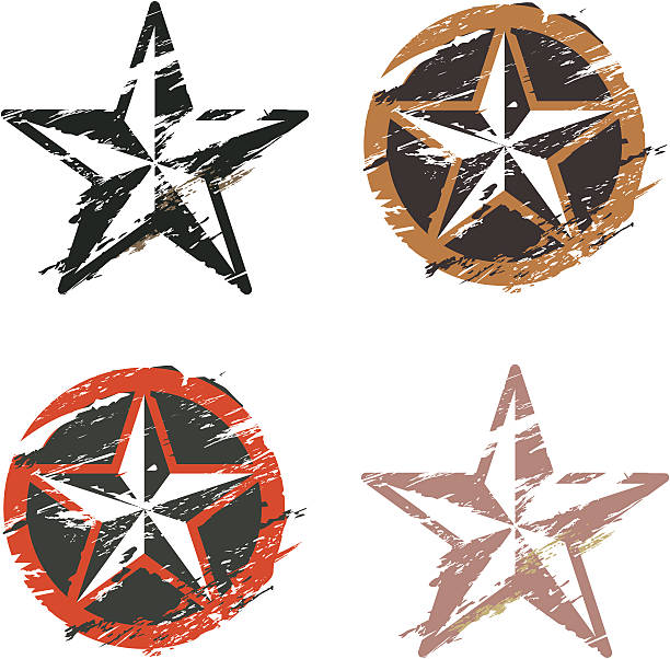 star Grunge tatouage nautique - Illustration vectorielle