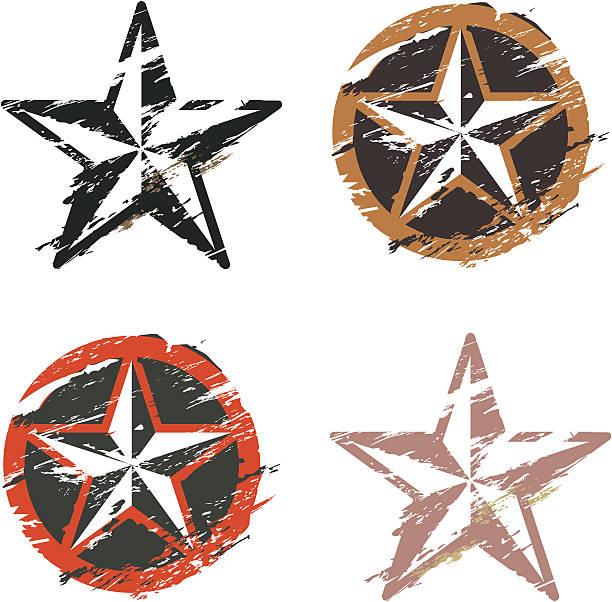 グランジマリン星のタトゥー - 星のタトゥー点のイラスト素材/クリップアート素材/マンガ素材/アイコン素材