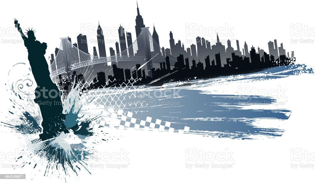 grunge new york city royalty-free stock vector art