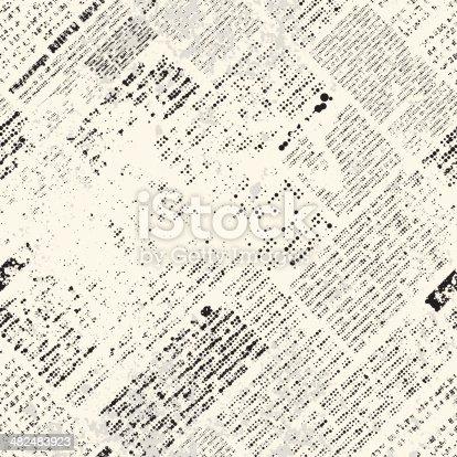Seamless background pattern. Imitation of newspaper