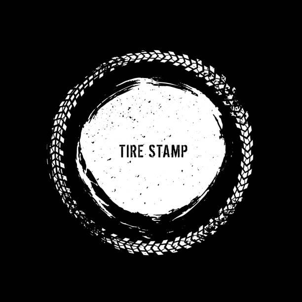 bildbanksillustrationer, clip art samt tecknat material och ikoner med grunge off road element - wheel black background