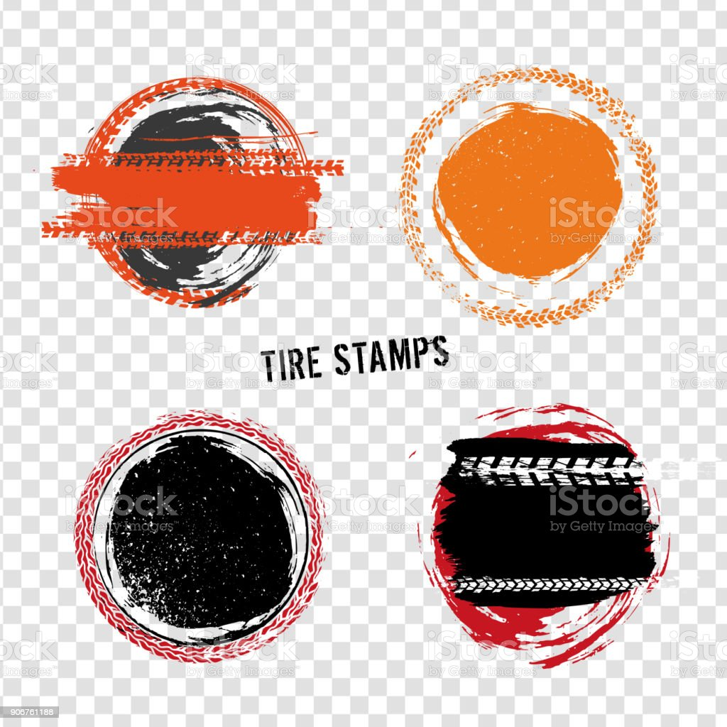Grunge Off Road Tire Stamps Stock Illustration Download Image Now Istock