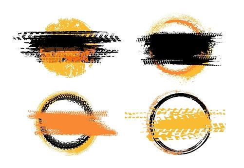 Grunge off-road stamps set