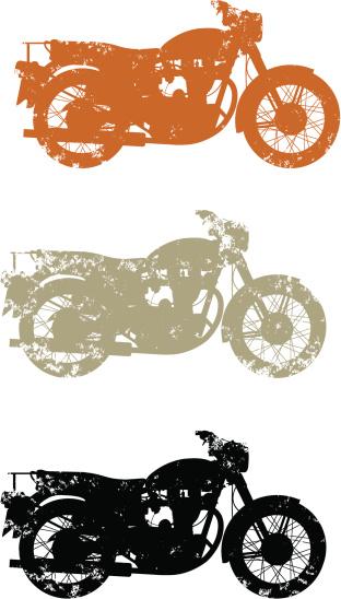 Grunge old bikes