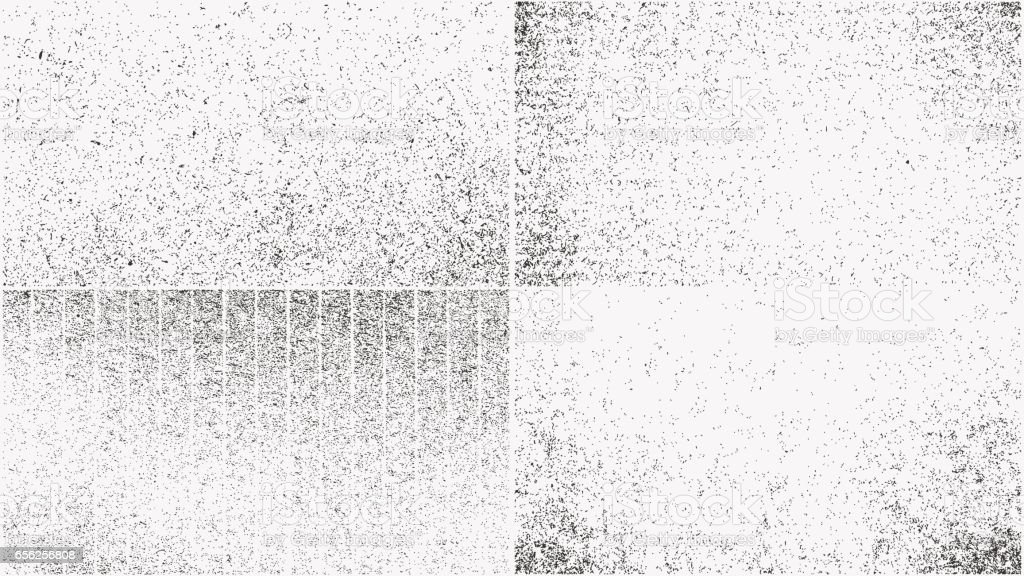Grunge overlay textures set royalty-free grunge overlay textures set stock illustration - download image now