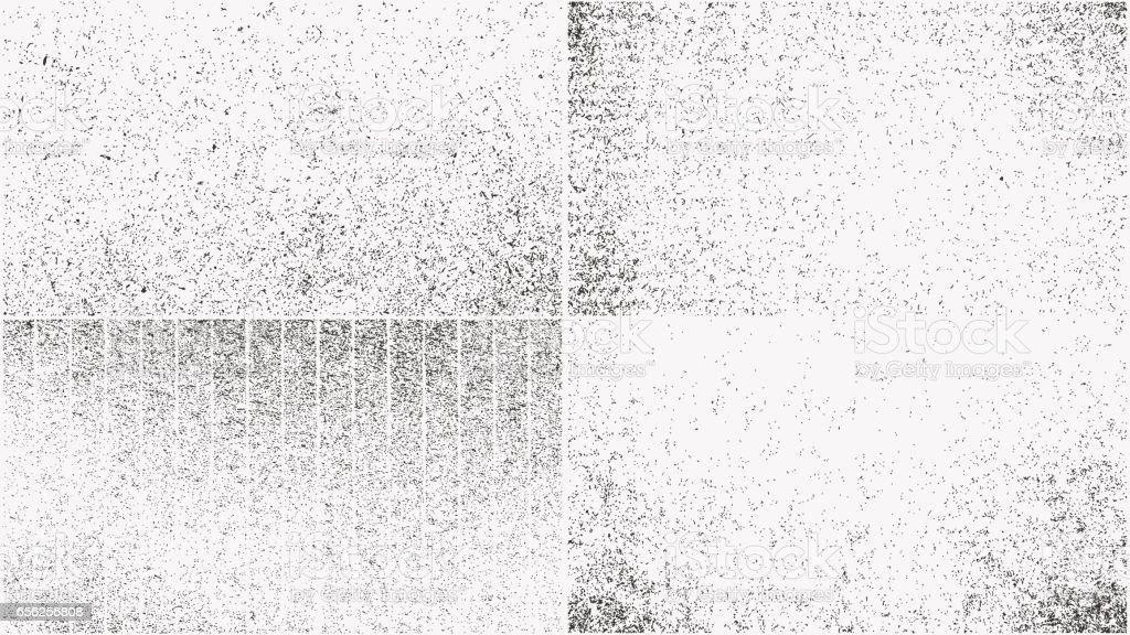 Grunge overlay textures set vector art illustration
