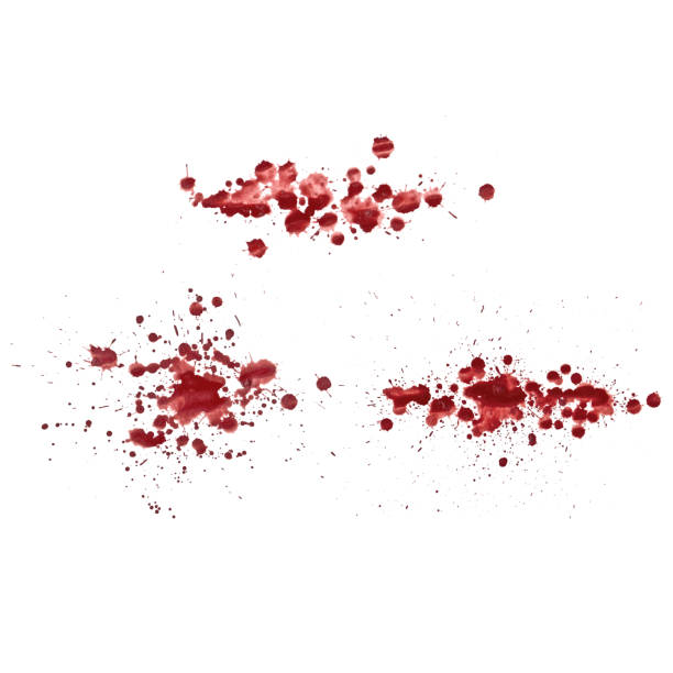 Grunge paint stains set. Paint splatter or drops. Grunge ink paint splats, blots and splashes. Paint Spray or liquid. Vector easy to edit. vector art illustration
