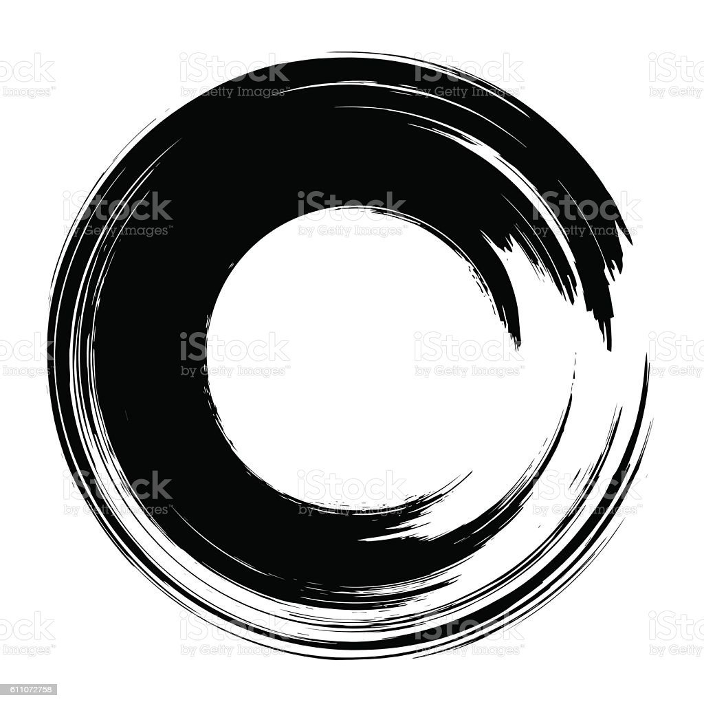 grunge paintbrush circle stock vector art more images of abstract rh istockphoto com grunge vector pack grunge vector art