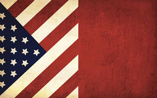 Grunge Patriotic Background Vector Art Illustration