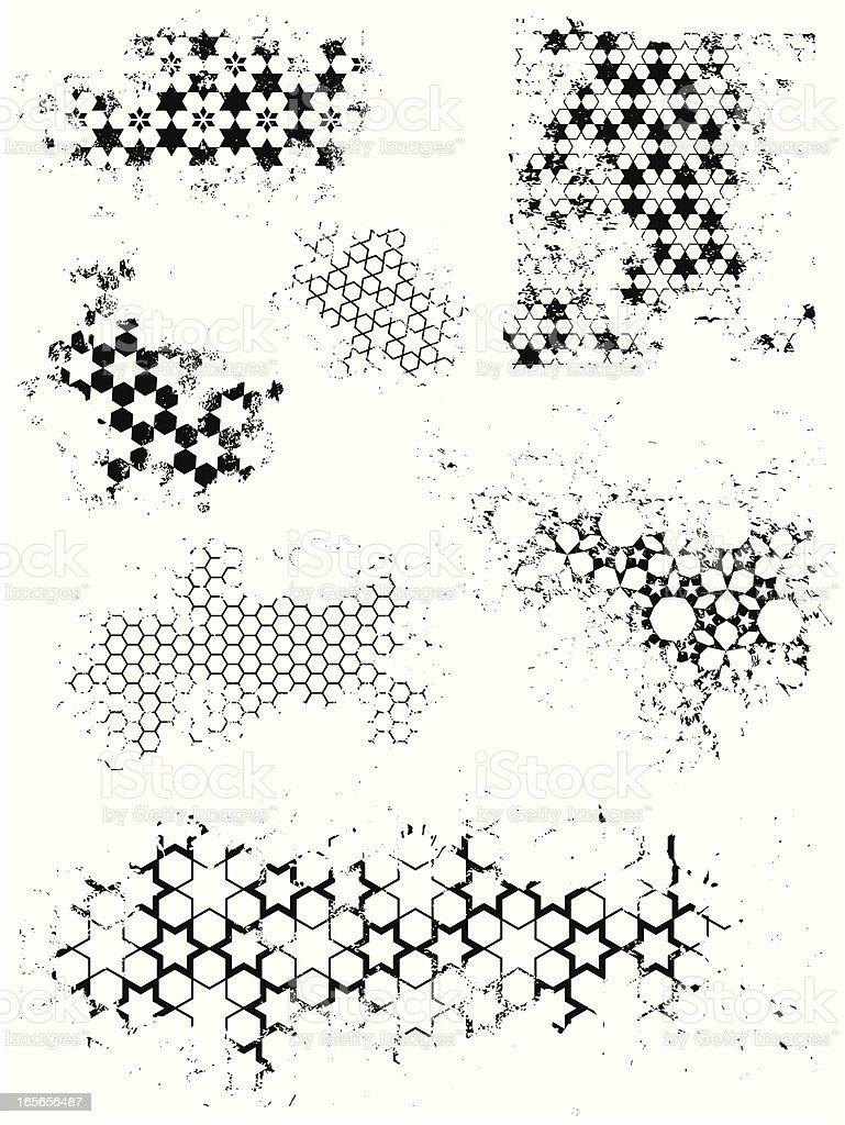 Grunge-Muster – Vektorgrafik