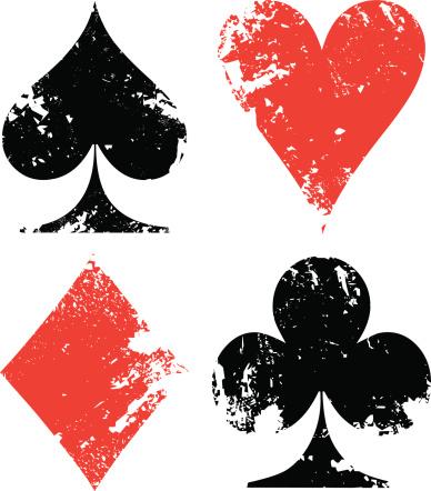 Grunge poker signs