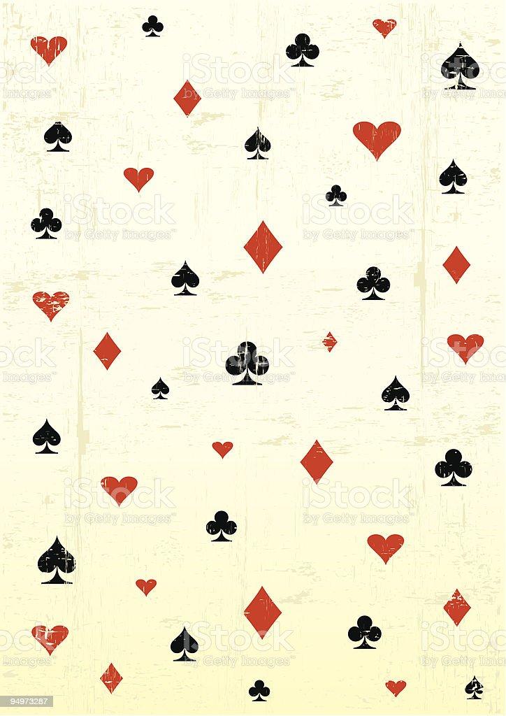 grunge poker wallpaper vector art illustration