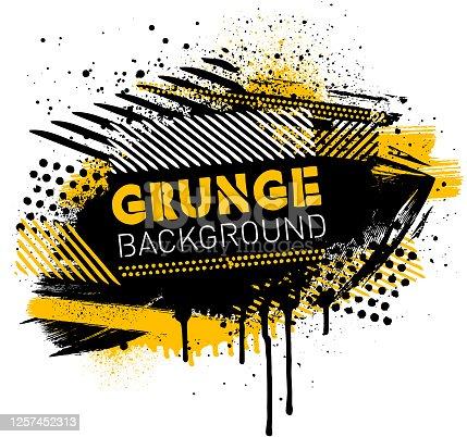 istock Grunge poster background vector 1257452313