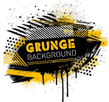 Grunge poster background vector