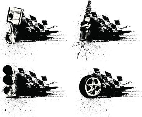 Grunge Racing Emblems