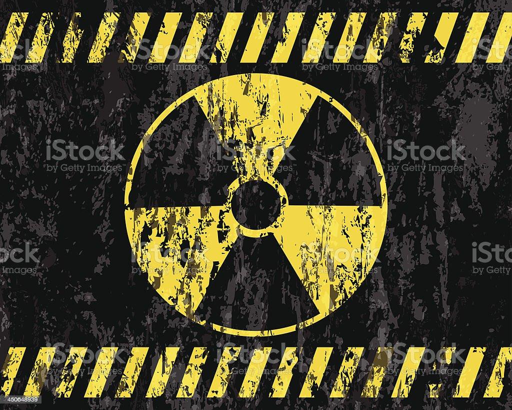 grunge radiation sign background vector art illustration