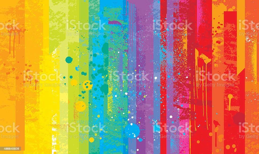 Grunge rainbow background - Royaltyfri 2015 vektorgrafik