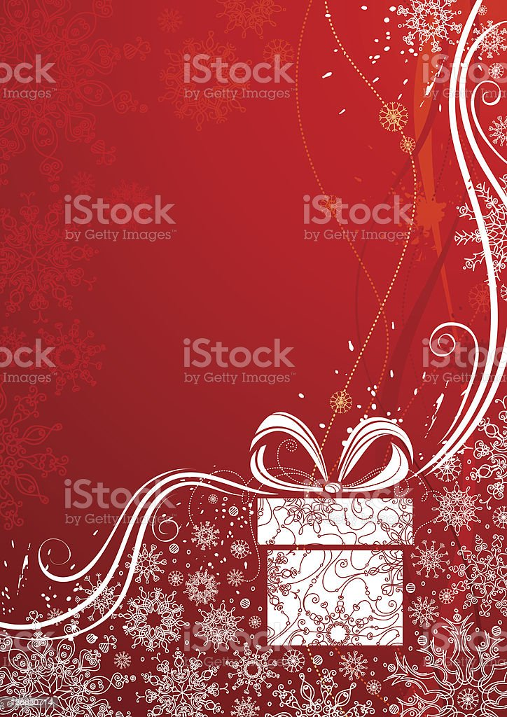 Grunge red Christmas background royalty-free stock vector art