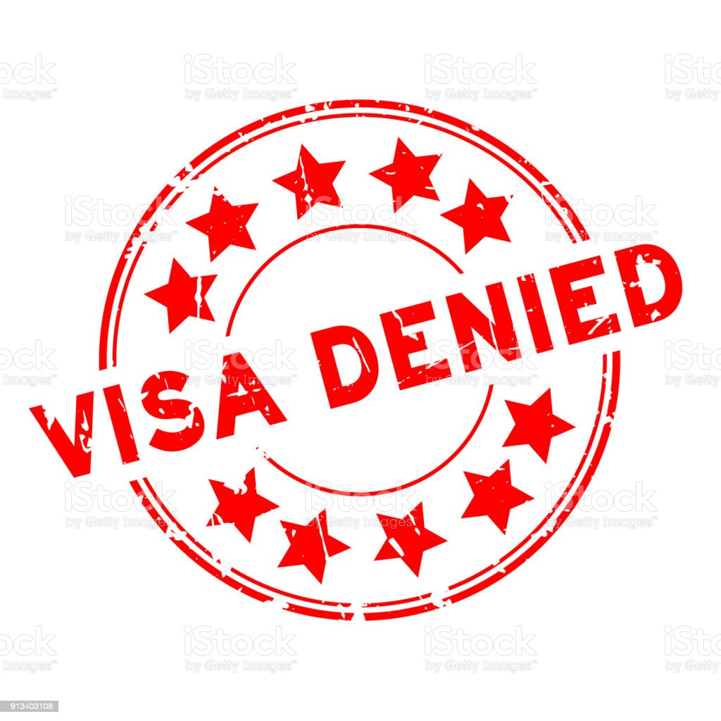 Grunge red visa denied with star icon round rubber seal stamp on grunge red visa denied with star icon round rubber seal stamp on white background royalty biocorpaavc Choice Image