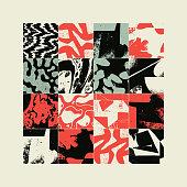 istock Grunge Revival Pattern Artwork Design Composition 1220501877