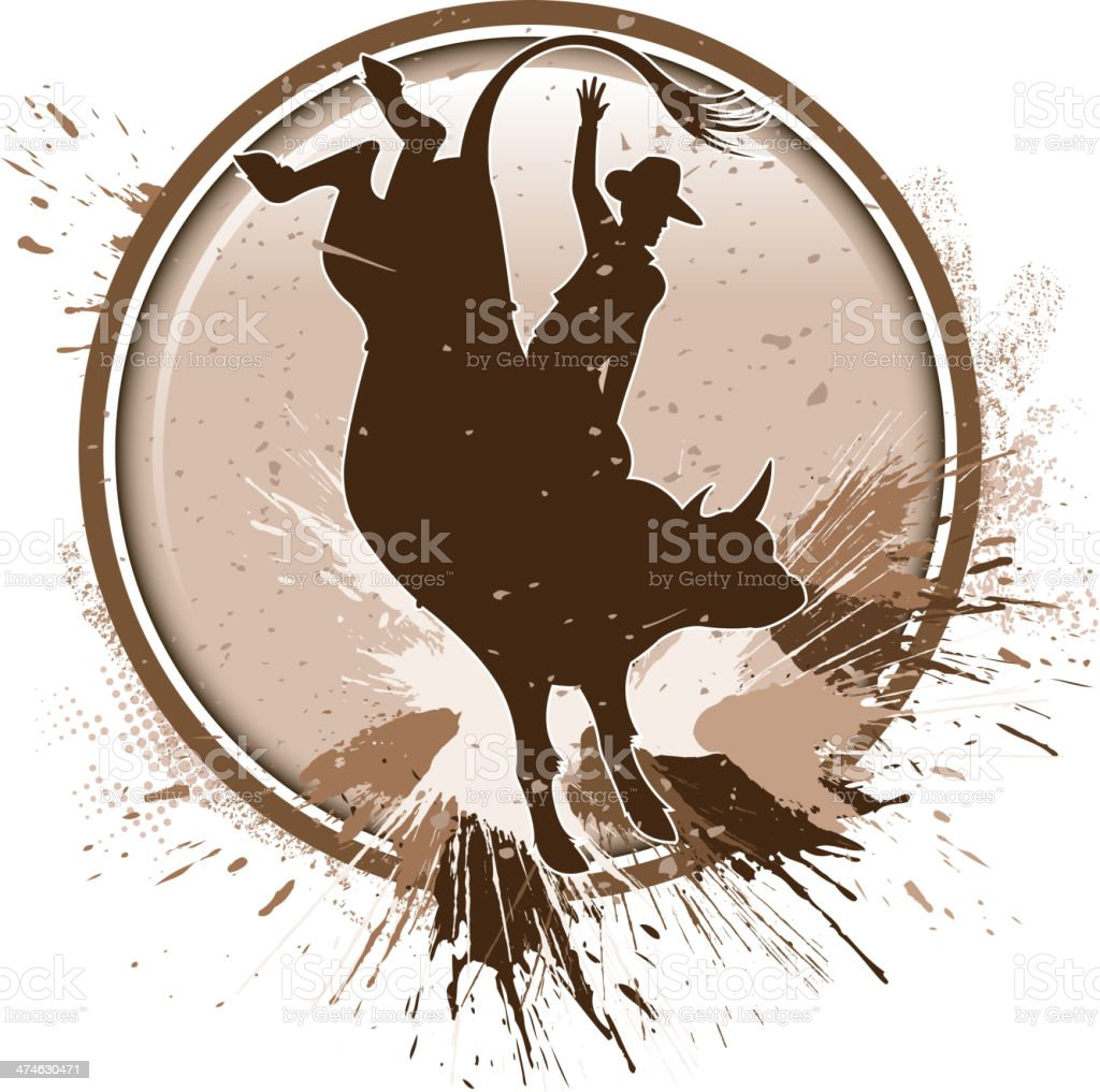 grunge rodeo silhouette royalty-free stock vector art