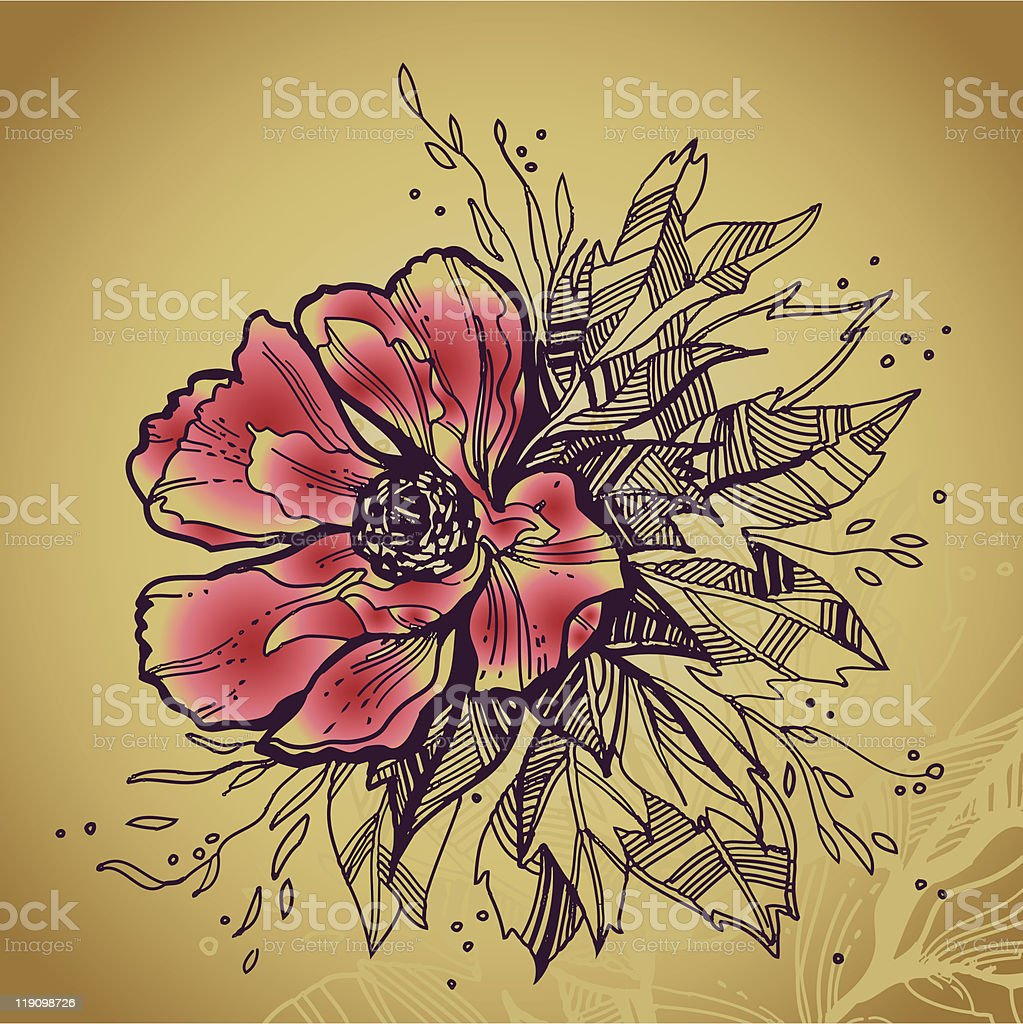 Grunge rose flower high quality drawing royalty-free grunge rose flower high quality drawing stock vector art & more images of abstract