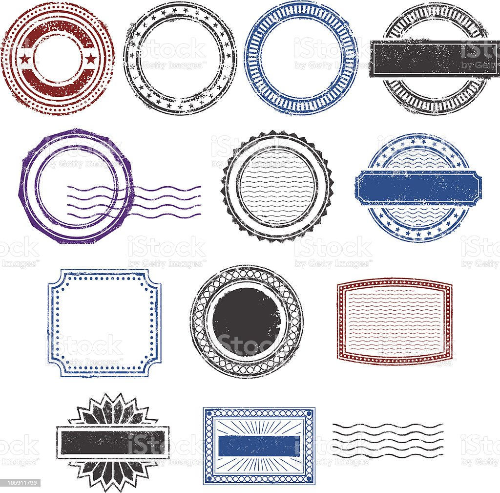 Grunge rubber stamps royalty-free stock vector art