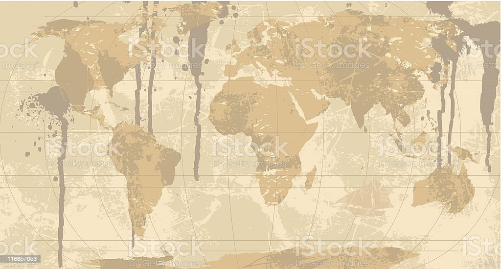 Grunge rustic world map stock vector art more images of africa grunge rustic world map royalty free grunge rustic world map stock vector art gumiabroncs Images