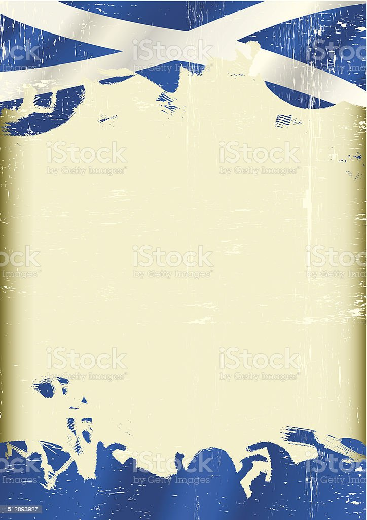 Grunge Scottish flag vector art illustration