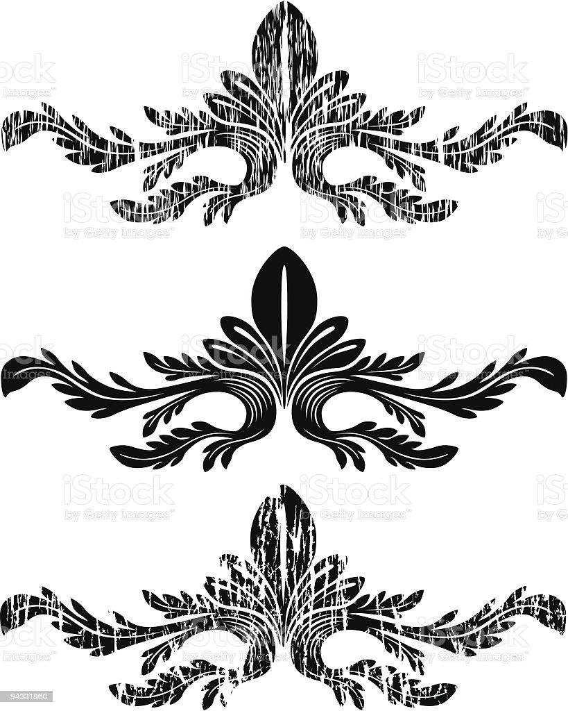 Grunge Scroll 08 royalty-free stock vector art