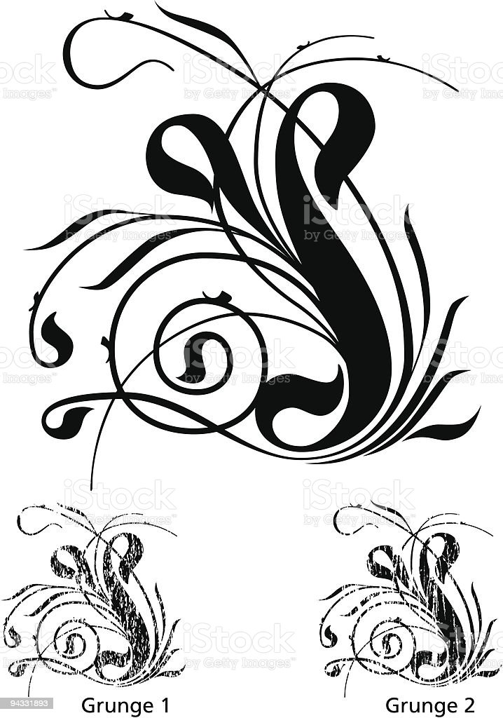 Grunge Scroll 23 royalty-free stock vector art