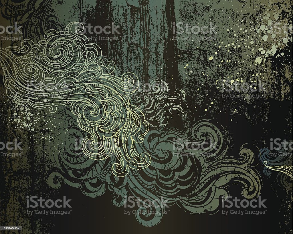 Grunge Scroll Background royalty-free grunge scroll background stock vector art & more images of abstract