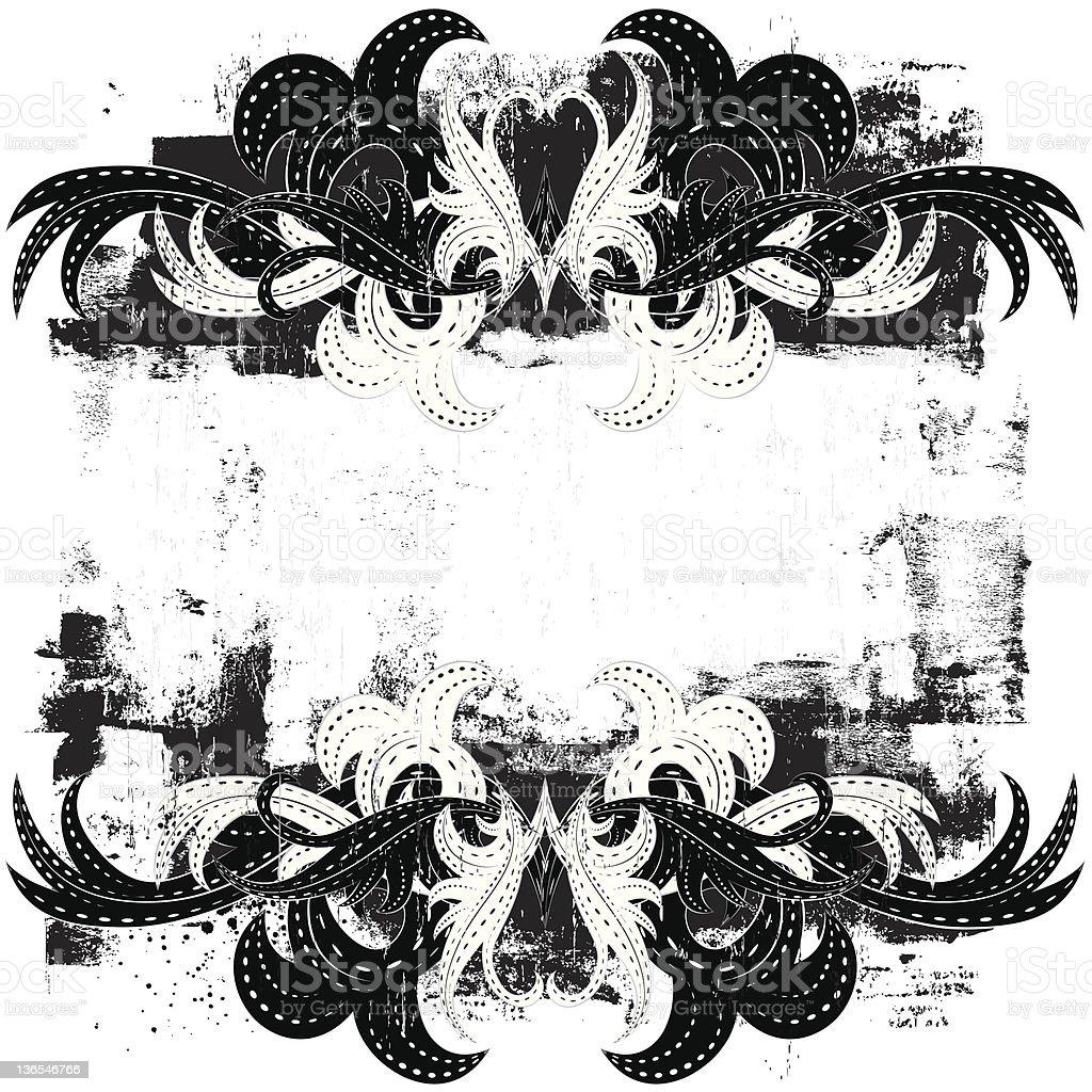 grunge scroll design royalty-free stock vector art