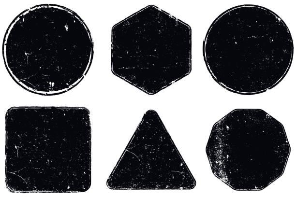 grunge seals - stamp stock illustrations