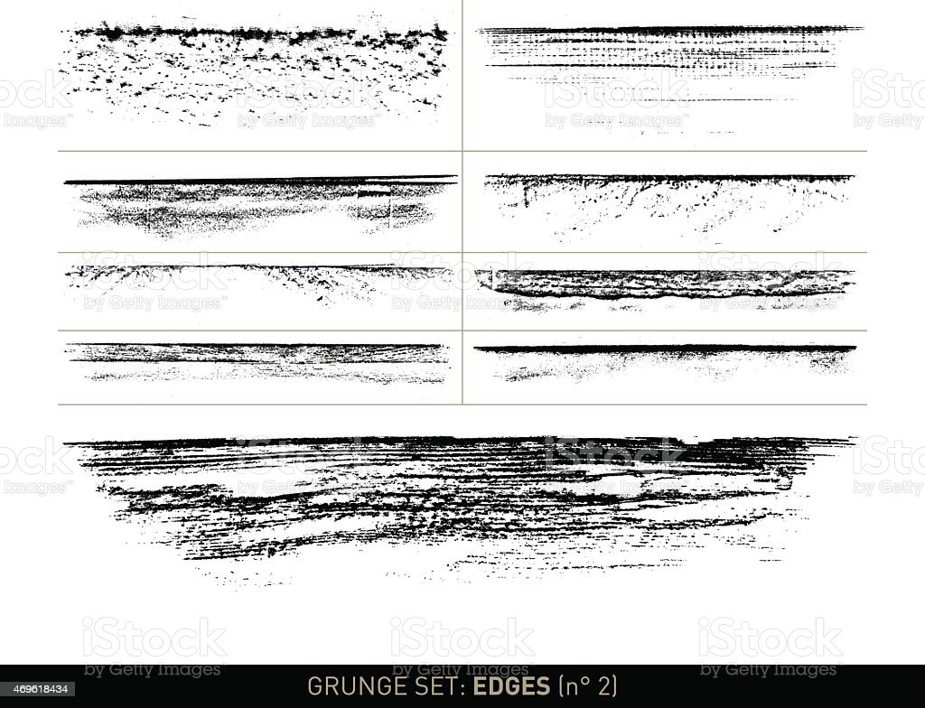 Grunge set: Edge elements in b/w · n° 2 vector art illustration