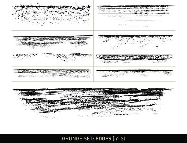그런지 세트: 에지 요소가 b/w · n ° 2 - wood texture stock illustrations