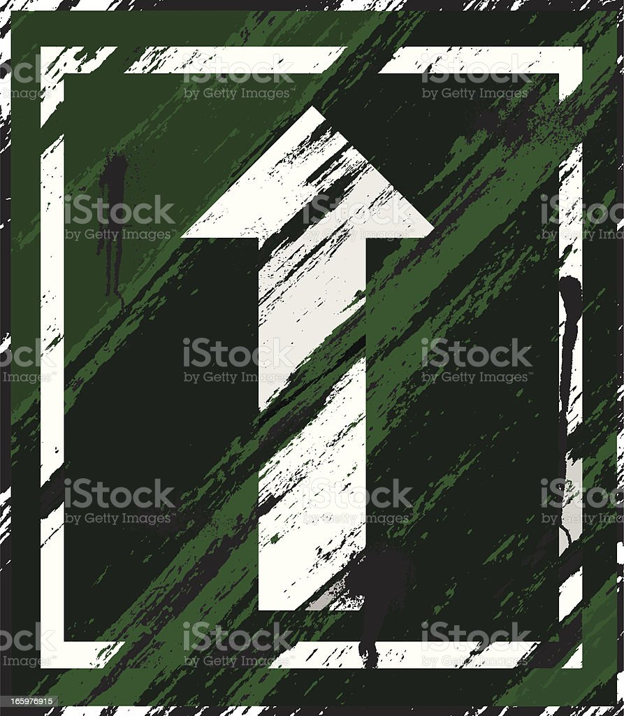 Grunge Sign | Green Background royalty-free stock vector art