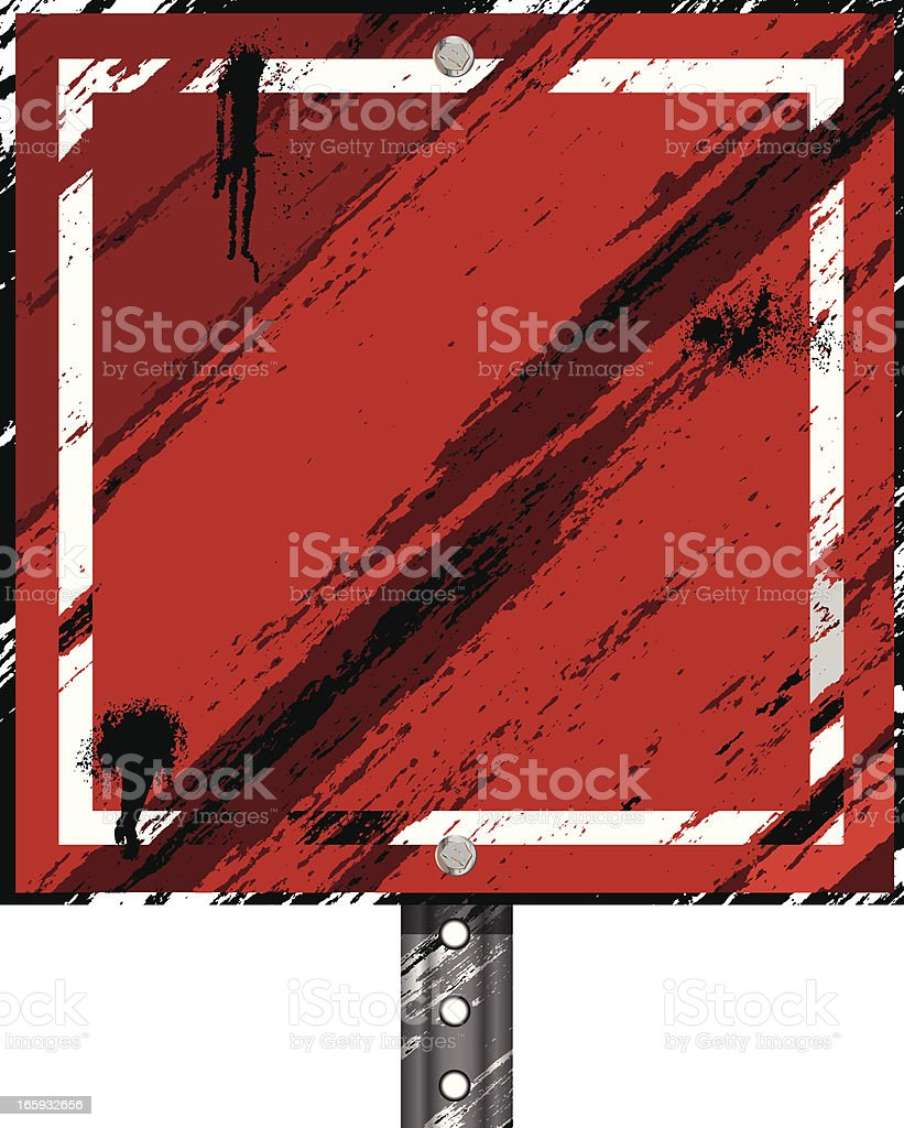 Grunge Sign | Red Square royalty-free grunge sign red square stock vector art & more images of advertisement