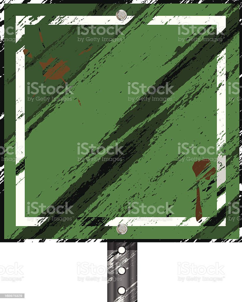 Grunge Sign | Square Green royalty-free stock vector art