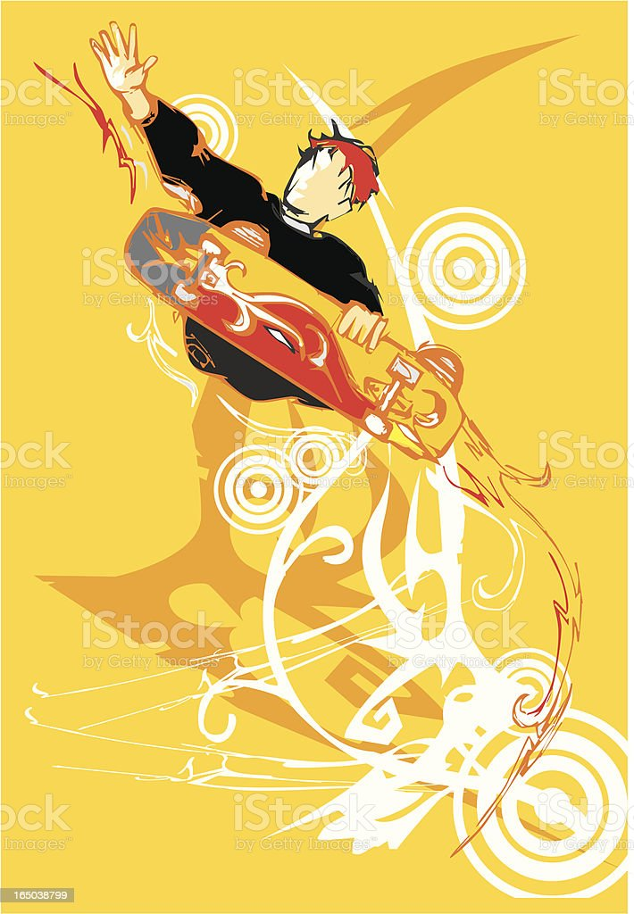 grunge skater royalty-free stock vector art