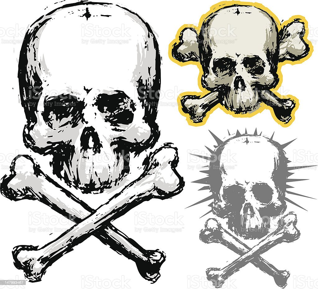 grunge skull royalty-free grunge skull stock vector art & more images of abstract
