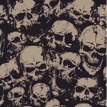 Grunge cráneo sin costuras