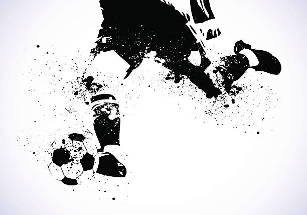 Grunge Soccer is going to shoot vector art illustration
