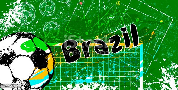 istock grunge soccer,football, futebol design for brazil, vector with free copy space 1200316036
