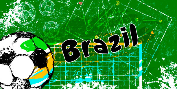 grunge soccer,football, futebol design for brazil, vector with free copy space grunge soccer,football, futebol design for brazil, vector with free copy space futebol stock illustrations