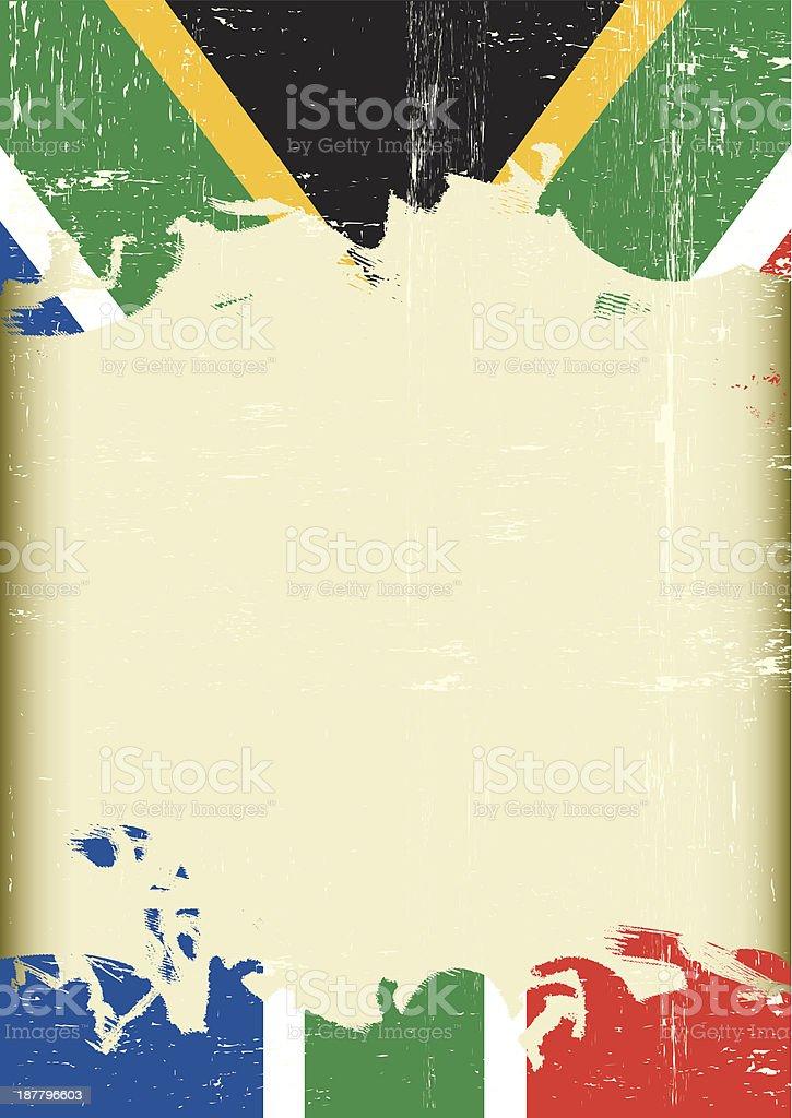 Grunge south Africa flag. vector art illustration