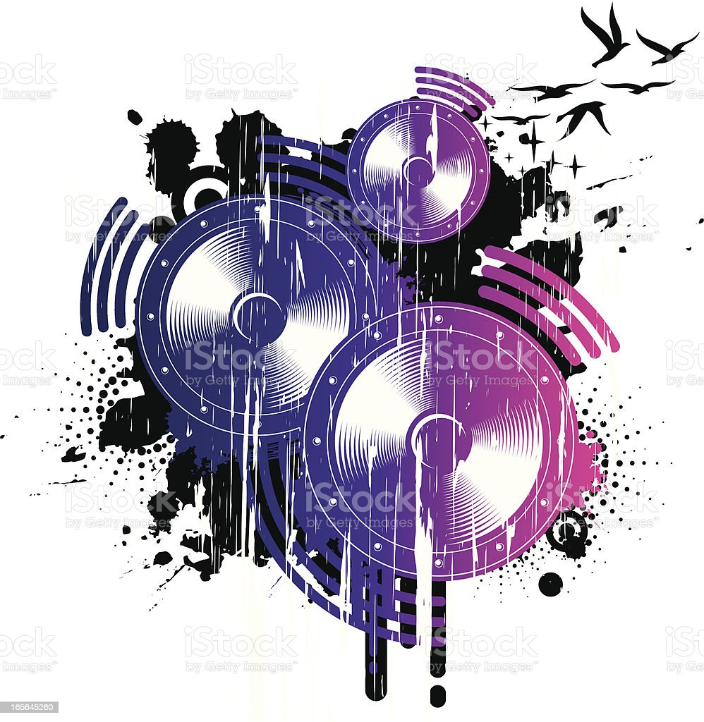 grunge speakers royalty-free grunge speakers stock vector art & more images of concepts